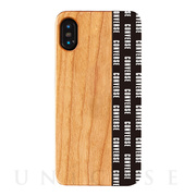 【iPhoneXS/X ケース】WOOD CASE (Pattern Black)