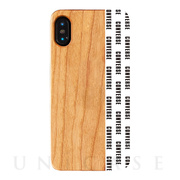 【iPhoneXS/X ケース】WOOD CASE (Pattern White)