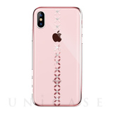 【iPhoneXS/X ケース】lucky star Crystal Case (Rose gold)