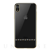 【iPhoneXR ケース】Crystal love Case (Gold)