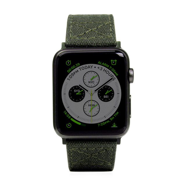 【AppleWatch Series4/3/2/1(44/42mm) バンド】Wax Canvas (カーキ)サブ画像