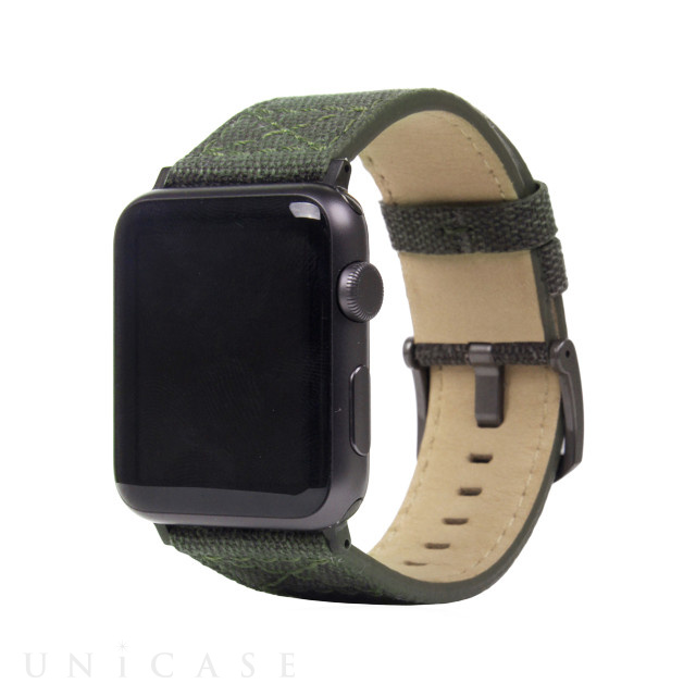 【AppleWatch Series4/3/2/1(44/42mm) バンド】Wax Canvas (カーキ)