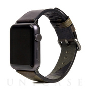 【AppleWatch Series4/3/2/1(44/42mm) バンド】Italian Camo Leather (カーキ)