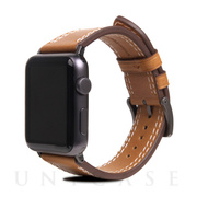 【AppleWatch Series4/3/2/1(44/42mm) バンド】Italian Temponata Leather (タン)