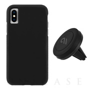 【iPhoneXS/X ケース】Car Case with Car Vent Mount (Black/Black)