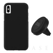 【iPhoneXS Max ケース】Car Case with Car Vent Mount (Black/Black)