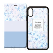 【iPhoneXS/X ケース】2WAY CASE (FLOWER BLUE)