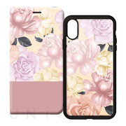 【iPhoneXS/X ケース】2WAY CASE (FLOWER PINK)