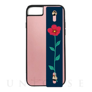 【iPhone8/7/6s/6 ケース】HAND BELT CASE (PINK×FLOWER)