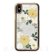 【iPhoneXS/X ケース】Pressed flower case (White tone)