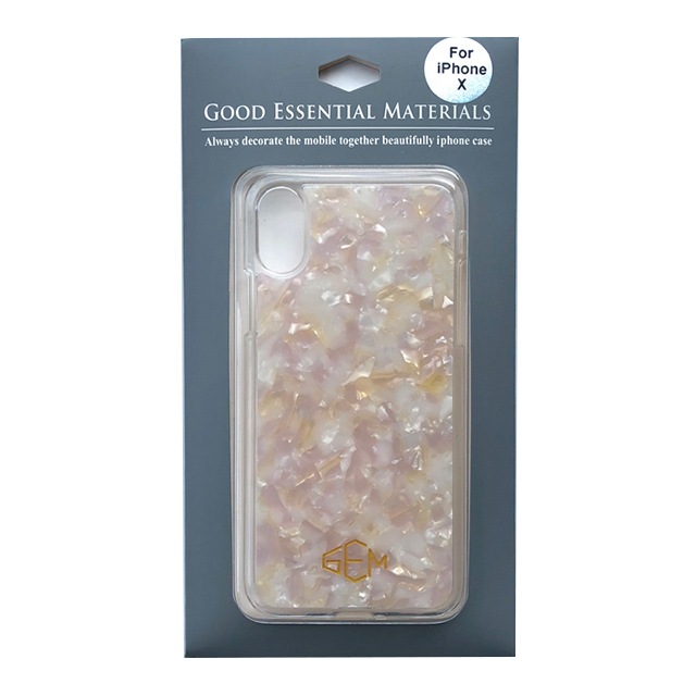 【iPhoneXS/X ケース】GOOD ESSENTIAL MATERIALS (ホワイトピンク)