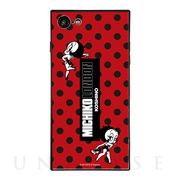 【iPhone8/7 ケース】MICHIKO LONDON×Betty Boop スクエア型 ガラスケース (retro dot)
