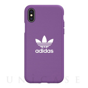 【iPhoneXS/X ケース】adicolor Moulded Case (active purple)