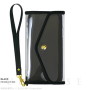 【iPhoneXS/X ケース】CLEAR POUCH (BLACK)