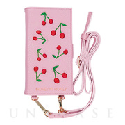 【iPhoneXS/X ケース】cherry book iPhone case (PNK)