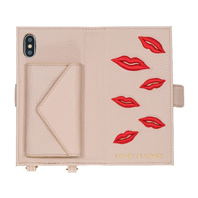 【iPhoneXS/X ケース】lip book iPhone case (BEG)サブ画像