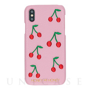 【iPhoneXS/X ケース】cherry iPhone case (PNK)