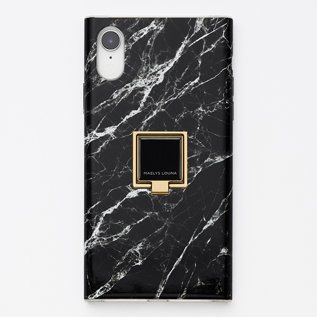 Square Smart Phone Ring (Gold Black)サブ画像