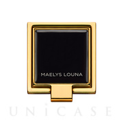 Square Smart Phone Ring (Gold Black)