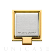 Square Smart Phone Ring (Gold Silver)