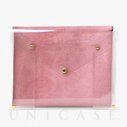 PVC LAPTOP CLUTCH (13) (ROSE)