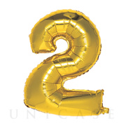 NUMBER BALLOON (GOLD2)