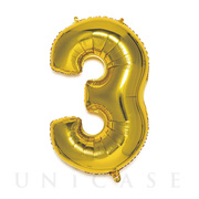 NUMBER BALLOON (GOLD3)