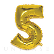 NUMBER BALLOON (GOLD5)