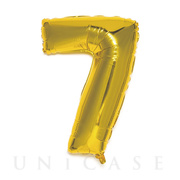 NUMBER BALLOON (GOLD7)