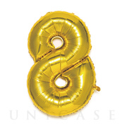 NUMBER BALLOON (GOLD8)