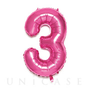 NUMBER BALLOON (PINK3)