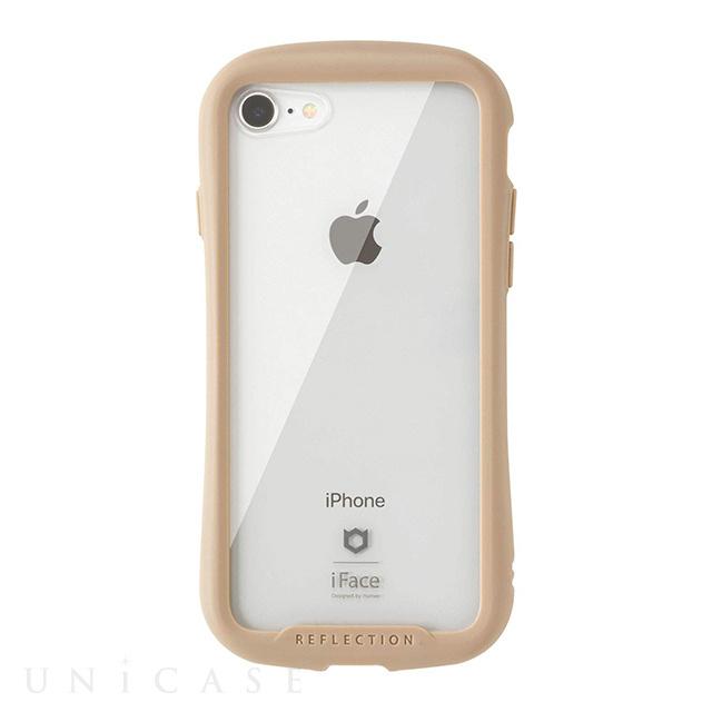 beedfda10c ... 【iPhone8/7 ケース】iFace Reflection強化ガラスクリアケース (ベージュ) ...