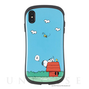 【iPhoneXS Max ケース】PEANUTS iFace First Classケース (スヌーピー&ウッドストック/犬小屋)
