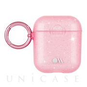 【AirPods ケース】Hook Ups Case& Neck Strap (Sheer Crystal - Blush Pink)