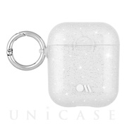 【AirPods ケース】Hook Ups Case& Neck Strap (Sheer Crystal - Metallic Silver)