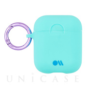 【AirPods ケース】Hook Ups Case& Neck Strap (Aqua Blue)