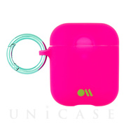 【AirPods ケース】Hook Ups Case& Neck Strap (Fushia Dark Pink)