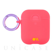 【AirPods ケース】Hook Ups Case& Neck Strap (Living Coral Light Pink)