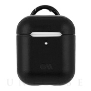 【AirPods ケース】Hook Ups Case& Neck Strap - Leather - (Black)