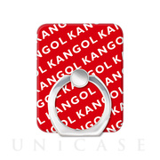 KANGOL スマホリング [KANGOL NAME PATTERN(RED)]