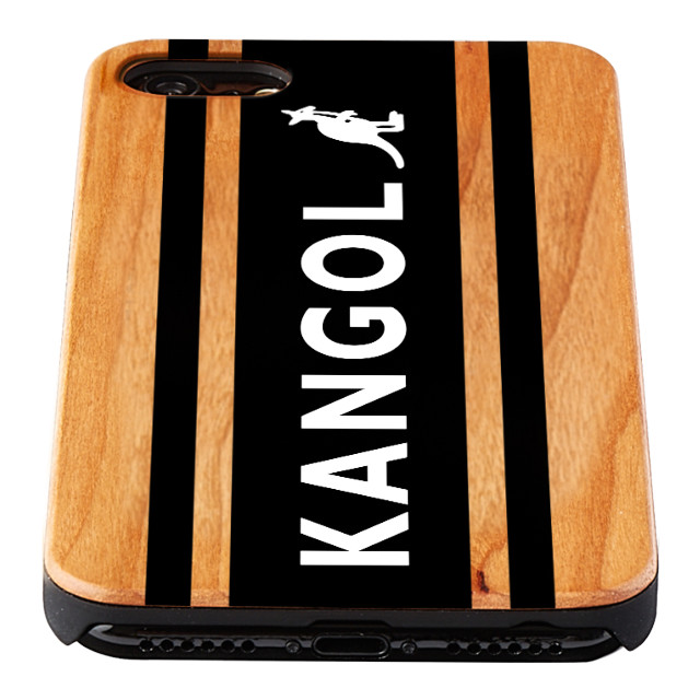 【iPhone8/7/6s/6 ケース】KANGOL ウッドケース [KANGOL BOX LOGO(BLK)]goods_nameサブ画像