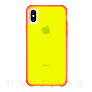 【iPhoneXS Max ケース】Tough Clear (Neon Green/Pink Neon)