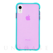 【iPhoneXR ケース】Tough Clear (Neon Turquoise/Purple)