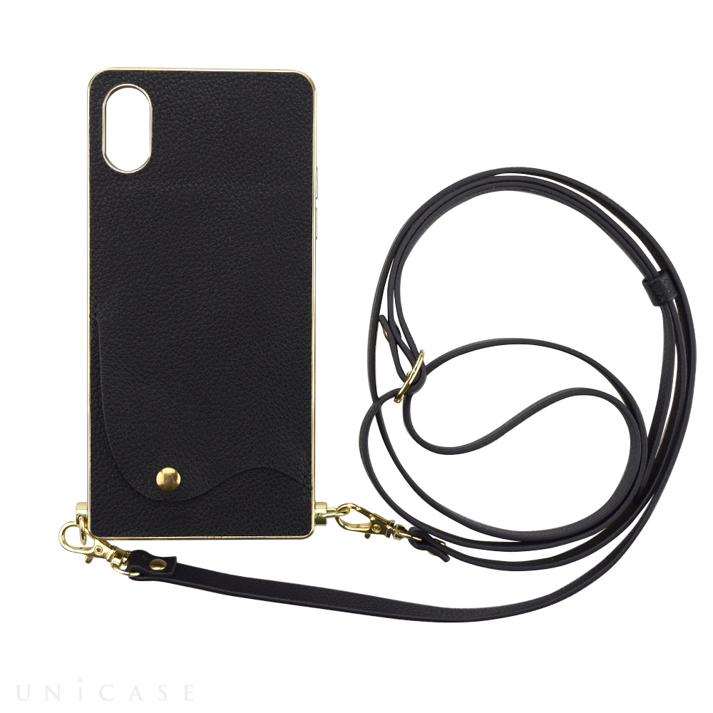 【iPhoneXS/X ケース】Cross Body Case for iPhoneXS/X(black)