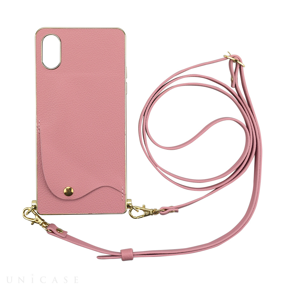 【iPhoneXS/X ケース】Cross Body Case for iPhoneXS/X(pink)