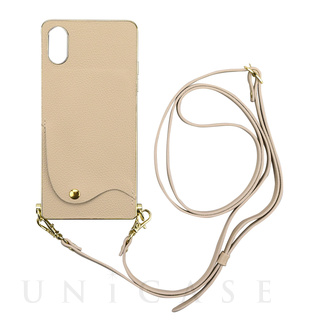 【iPhoneXS/X ケース】Cross Body Case for iPhoneXS/X(beige)