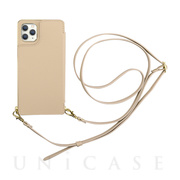 【iPhone11 Pro ケース】Cross Body Case for iPhone11 Pro (beige)