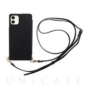 【iPhone11/XR ケース】Cross Body Case for iPhone11 (black)