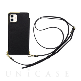 【iPhone11 ケース】Cross Body Case for iPhone11 (black)
