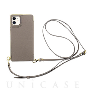【iPhone11/XR ケース】Cross Body Case for iPhone11 (gray)
